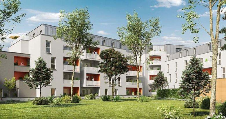 Achat / Vente appartement neuf Nantes proche du Parc de la Crapaudine (44000) - Réf. 1726