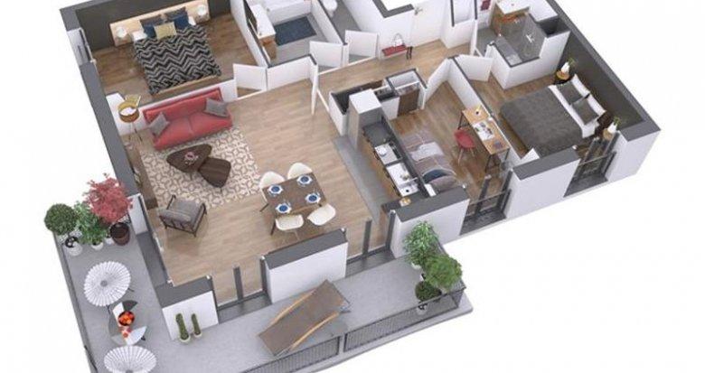 Achat / Vente appartement neuf Nantes quartier La Prairie des Ducs (44000) - Réf. 204