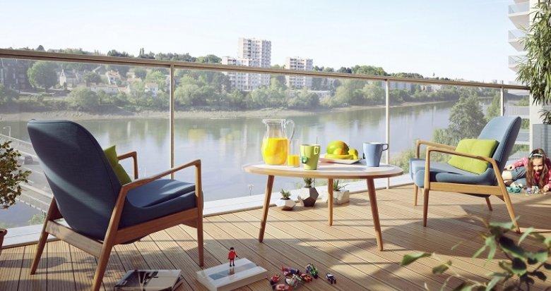 Achat / Vente appartement neuf Nantes vue sur la Loire (44000) - Réf. 231