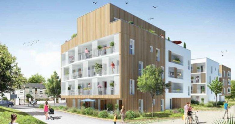 Achat / Vente appartement neuf Saint-Herblain face au Parc de la Bourgonnière (44800) - Réf. 1094